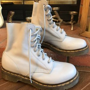 Dr. Martens Pascal Leather Boot - Pale Blue Size 7
